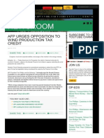 AFP Urges Opposition to Wind Production Tax Credit