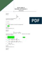 Act 9. Quiz 2_calculo Integral Corregido