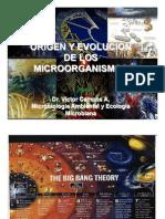 Origen y Clasificacion Microorganismos
