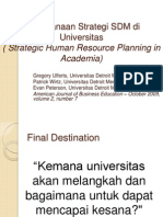 Perencanaan Strategi SDM Di Universitas