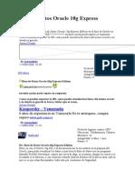 Base de Datos Oracle 10g Express Edition