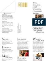 final project counseling services brochure