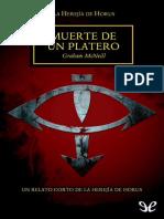[Warhammer 40000] [Herejia de Horus 01.1] McNeill, Graham - Muerte de Un Platero [10726] (r1.0)