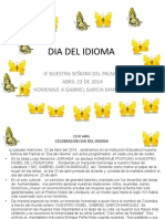 Dia Del Idioma Abril 23 de 2014 en Power Point