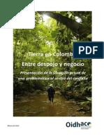 1. Tierras en Colombia Entre El Despojo