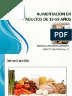 Alimentación en Adultos de 18-59 Años
