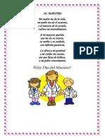 Poemas Dia Del Maestro