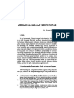 Azerbaycan Anayasasi Üzeri̇ne Notlar - Dr. Levent Gönenç