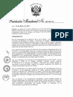 DS 050-2012 de ley 29783