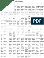 NYSSRA Sunday Sprint Schedule