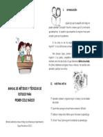 Metodos y Tecnicas de Estudio Primer Ciclo