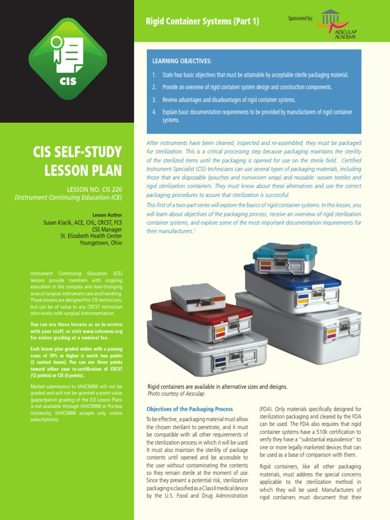 Cis sterilization microbiology containerization 1betcityfo Choice Image