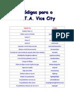 Códigos Para G.T.a. Vice City