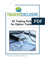 50 Trading Rules for Option Traders