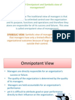 omnipotent and symbolic view of Management