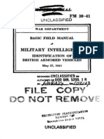 FM 30 41 1941 (OBSOLETE) Identification of British Armored Vehicles May 27 1941