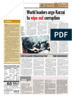 TheSun 2009-11-04 Page08 World Leaders Urge Karzai to Wipe Out Corruption