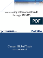 Automating International Trade Through Sap Gts