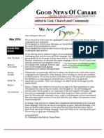 Canaan Baptist Church  Newsletter May 2014