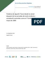 Agustín Tosco Desde La Cárcel Luego de Cordobazo