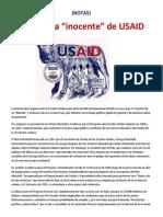"""La historia """"inocente"""" de USAID- (NOTAS)"""