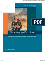 Educación y Gestión Cultural