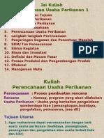 Kuliah Perencanaan Usaha Perikanan, Agustus 2006(1)
