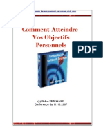 CR Conférence Atteindre Ses Buts