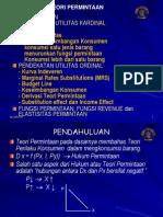 Teori Permintaan by Dosen Khadarisman