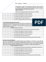 laboratory performance rubric for group and individual