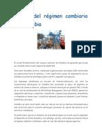 Movida Del Régimen Cambiario en Colombia