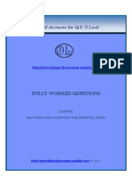 Bad Debts Questions