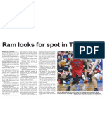 Ram looks for spot in Tall Blacks (The Star, April 30, 2014)