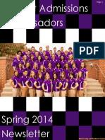 SAA Spring 2014 Newsletter