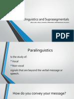 Paralinguistics and Suprasegmentals