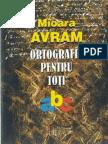 Avram Mioara - Ortografie Pentru Toti (Cartea)