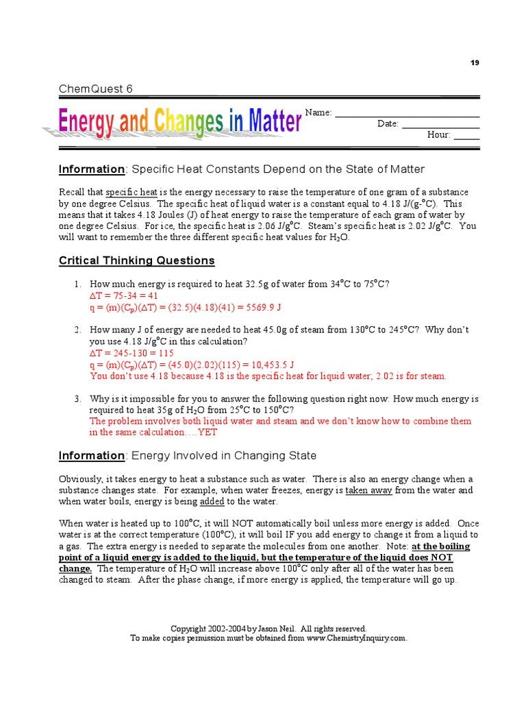 chem quest 6 answers | Heat (5.7K views)