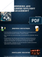 Breweries and Distilleries Effluent Management