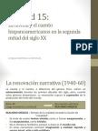 U15. La Novela y El Cuento Hispanoamericanos en La Segunda Mitad Del Siglo XX