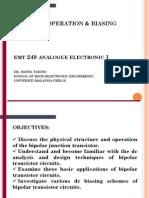 Basic Bjt Operation and Biasing
