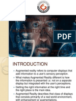 Seminar Report on augmented reality