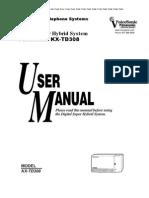 Kx-TD308 User Manual 01