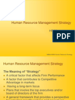 Human Resource Management Strategy