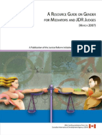 Resouce Guide on Gender for Mediators and Judges