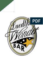 Wonder Bar Menu - Madison, WI