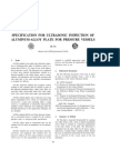 Specification for Ultrasonic Inspection of Al-Alloy Plate for Pressure Vessels