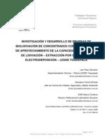 Biolixiviacion de Concentrados en La Planta de Lixiviacion - Southern