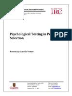 Teste Psihologice Pt Selectia de Personal