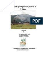 Status of Sponge Iron Plant in Orissa