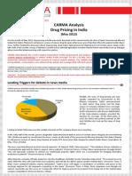CARMA Analysis Regulation of Drug Pricing May 2012